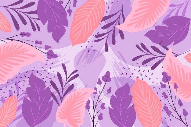 Astratto sfondo floreale in design piatto Vettore gratuito