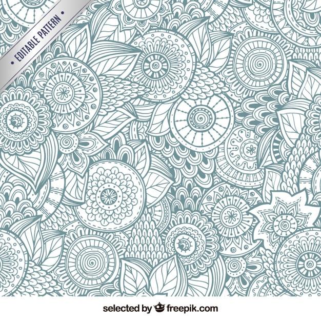 Astratto sfondo floreale Vettore gratuito