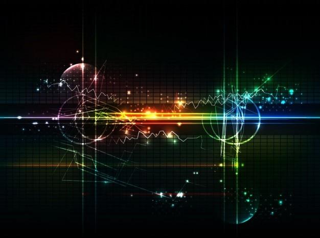 Astratto sfondo futuristico grafica vettoriale Vettore gratuito
