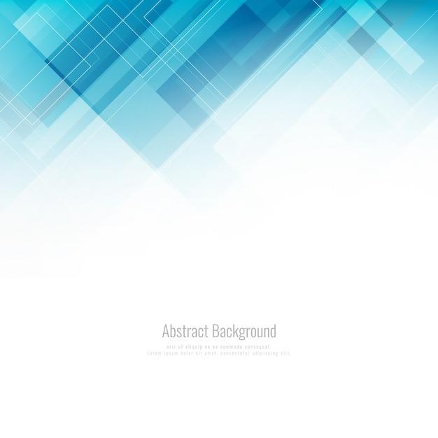 Astratto Sfondo Geometrico Blu Scaricare Vettori Premium