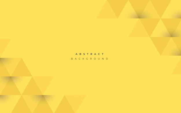 Astratto sfondo giallo con forme geometriche Vettore gratuito