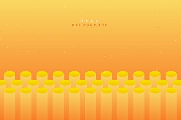 Astratto sfondo giallo fluido vibrante Vettore Premium
