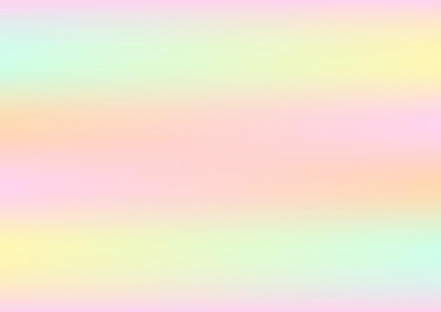 Astratto sfondo olografico con colori pastello Vettore Premium