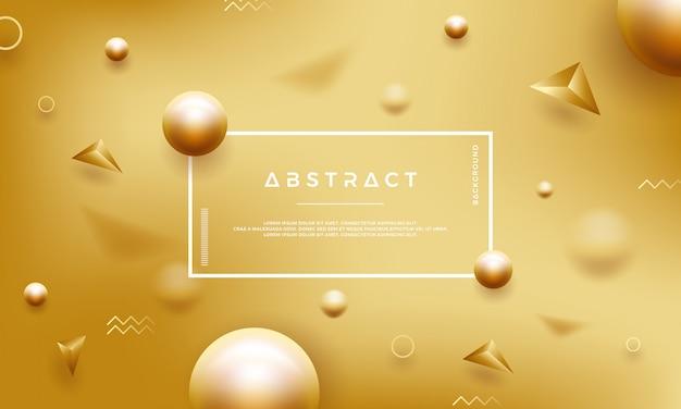 Astratto sfondo oro con belle perle dorate. Vettore Premium