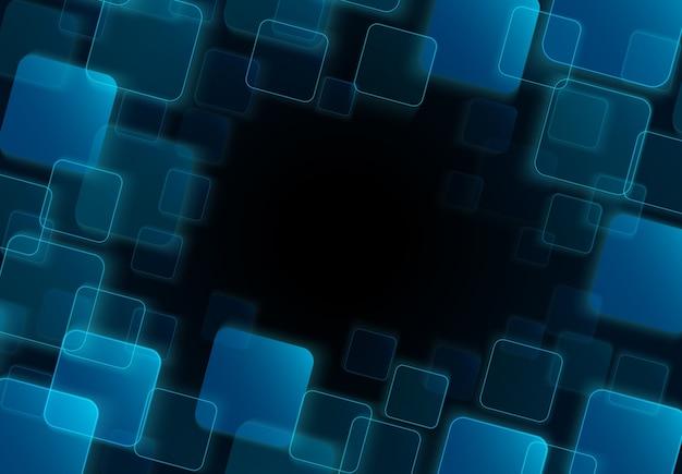Astratto Sfondo Quadrato Trasparente Blu Scaricare Vettori Premium