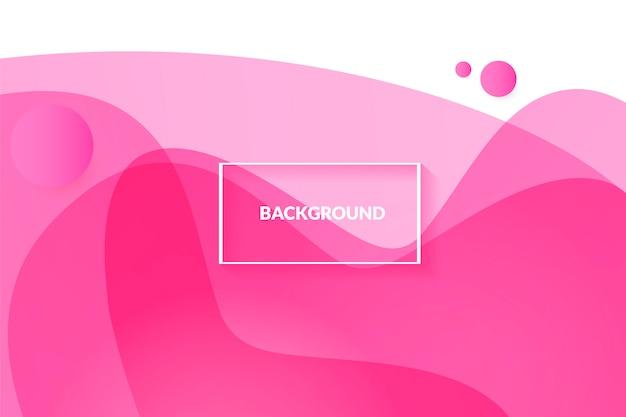 Astratto sfondo rosa con un bel liquido liquido Vettore gratuito