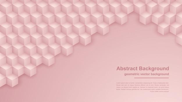 Astratto sfondo rosa trama con forme esagonali. Vettore Premium