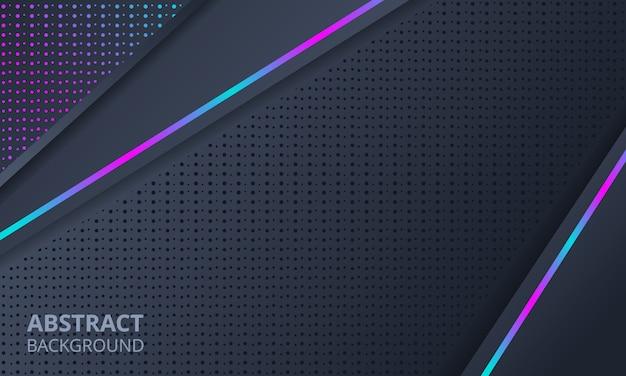 Astratto sfondo scuro con luce al neon Vettore Premium