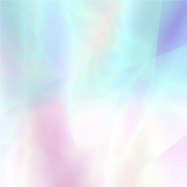 Astratto sfondo sfocato olografico in colori chiari Vettore Premium