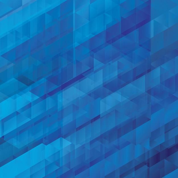 Astrazione blu, composta da mattoni blu, diverse sfumature di sfondo Vettore Premium