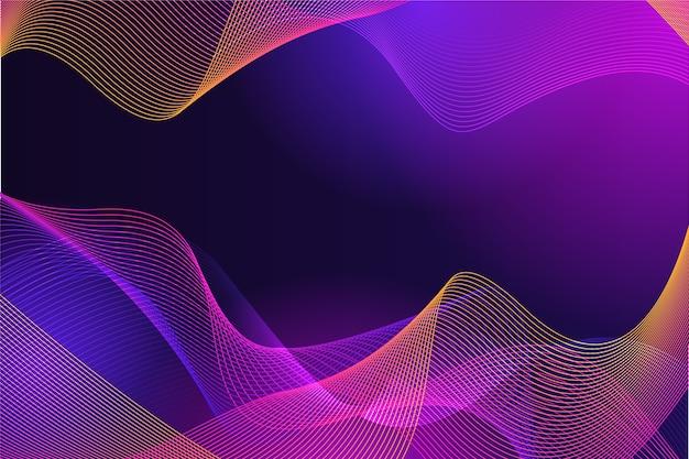 Astrazione di lusso ondulato in toni colorati Vettore gratuito