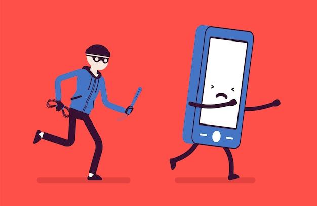Attacco furto di telefono Vettore Premium