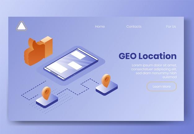 Atterraggio isometrico digitale Vettore Premium