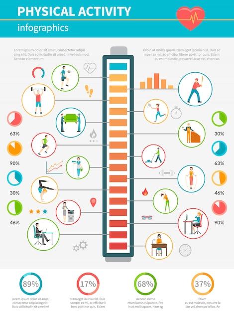 Attività fisica infografica Vettore gratuito