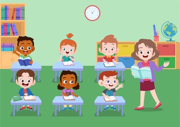Attività scolastica Vettore Premium