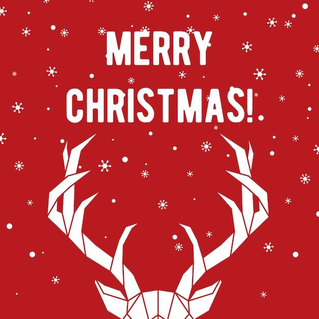Foto Con Auguri Di Buon Natale.Auguri Di Buon Natale Con Cervi E Fiocchi Di Neve