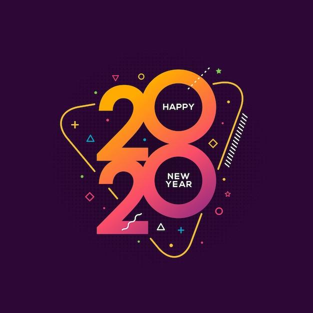 Auguri di felice anno nuovo Vettore Premium
