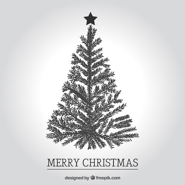 Immagini Di Natale In Bianco E Nero.Auguri Di Natale In Bianco E Nero Scaricare Vettori Gratis