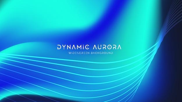 Aurora astratto Vettore Premium