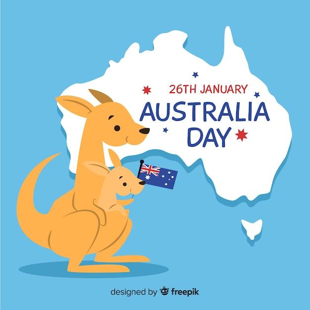 Australia day sfondo Vettore gratuito