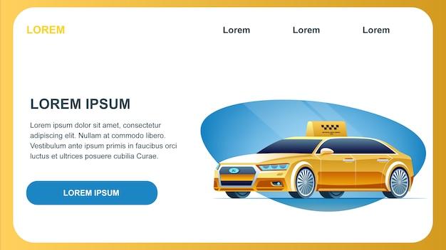 Auto a guida di taxi Vettore Premium