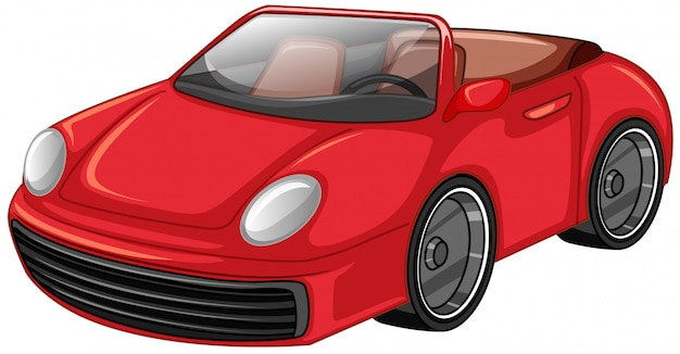 Auto da corsa rossa Vettore gratuito