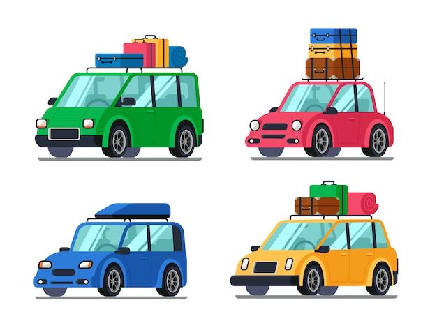 Auto da viaggio Vettore Premium