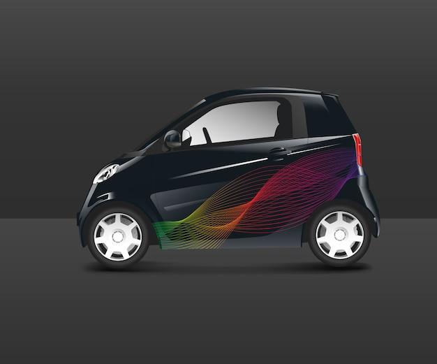 Auto ibrida compatta con un design speciale Vettore gratuito