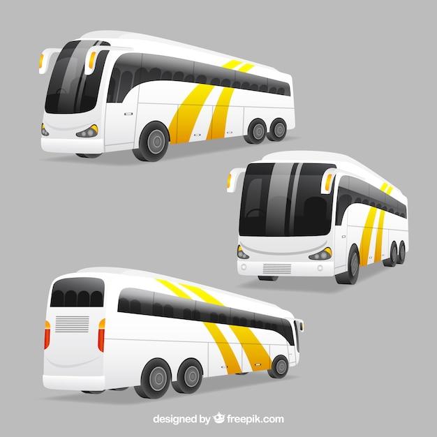 Autobus con diverse prospettive Vettore gratuito