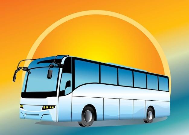 Autobus Urbano Con Sfondo Brillante Scaricare Vettori Gratis