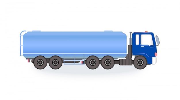Autocisterna del carburante blu Vettore Premium