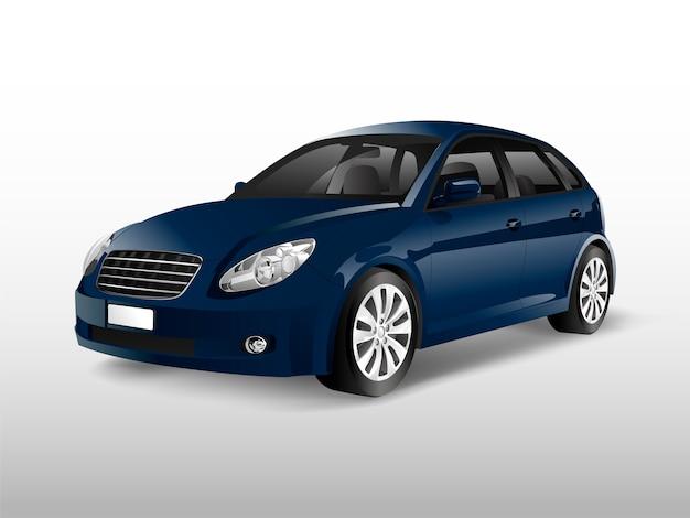 Automobile blu della berlina isolata sul vettore bianco Vettore gratuito