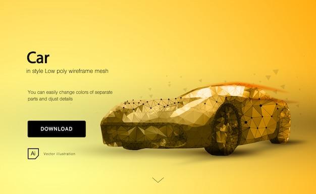 Automobile sportiva astratta sull'arancia Vettore Premium
