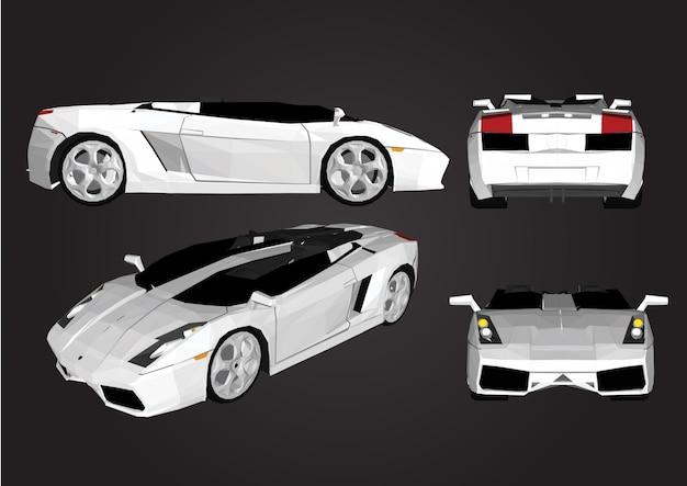 Automobile sportiva di vettore isolata Vettore Premium