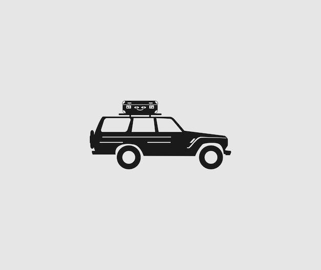 Automobile suv icon vector Vettore Premium