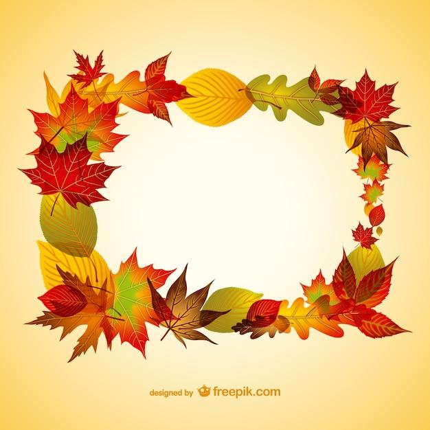 Autunno sfondo con illustrazione vettoriale foglie Vettore gratuito