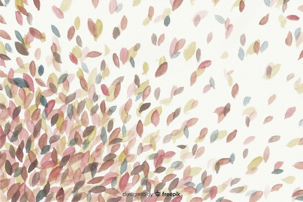 Autunno stile decorativo sfondo acquerello Vettore gratuito