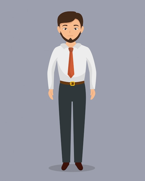 Avatar di carattere uomo d'affari isolato Vettore gratuito