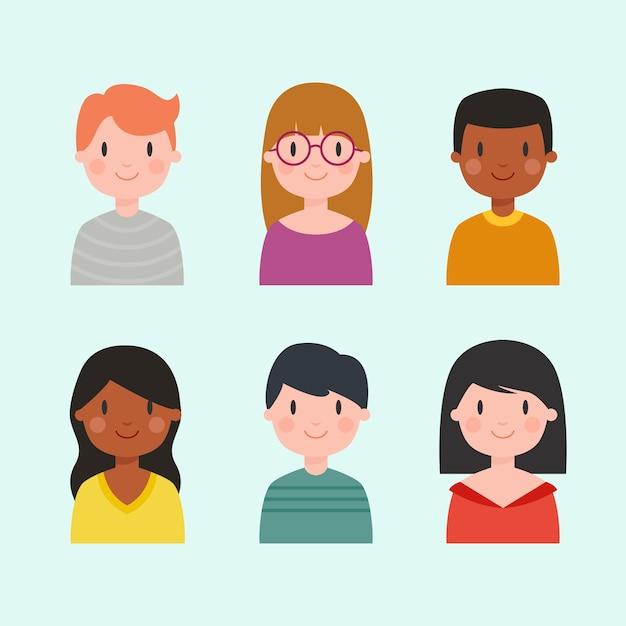 Avatar di persone diverse Vettore gratuito
