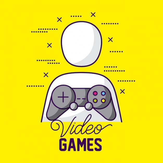 Avatar e controllo del giocatore, videogiochi Vettore gratuito