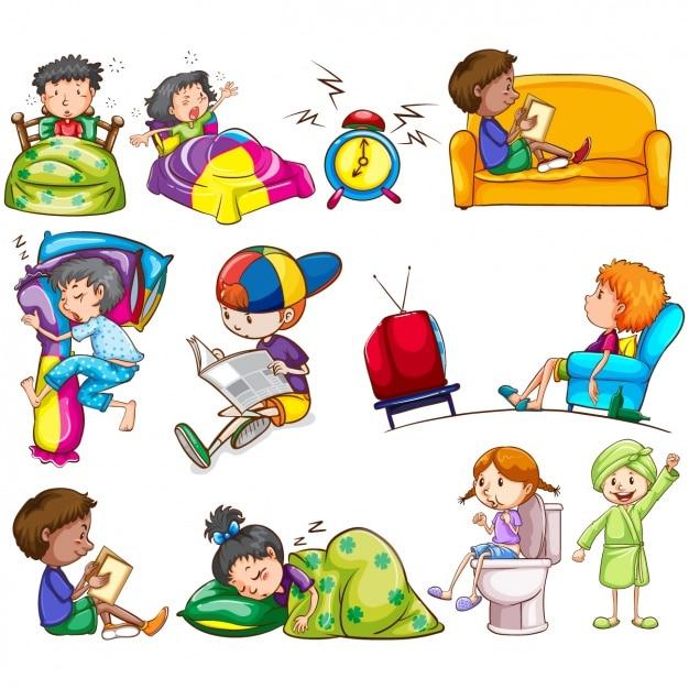 Selezionato disegni da colorare azioni quotidiane for Materiale per sessioni aba