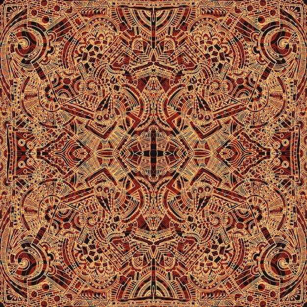 Aztec sfondo marrone Vettore gratuito