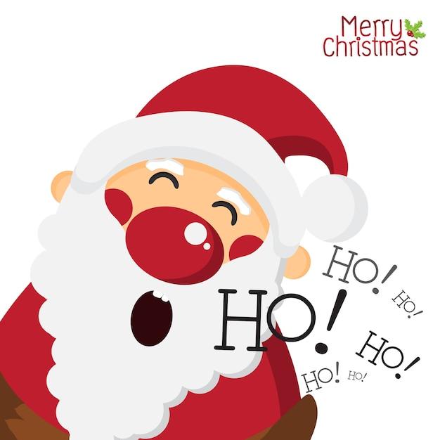 Babbo Natale Ho Ho Ho.Babbo Natale Felice E Ridendo Ho Ho Su Sfondo Bianco Isolato