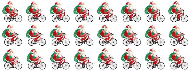 Babbo Natale In Bicicletta.Babbo Natale In Bicicletta Scaricare Vettori Premium