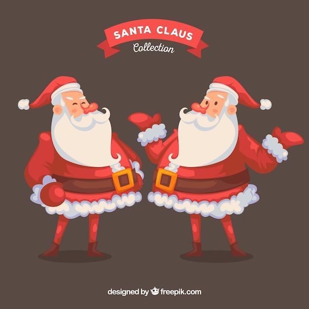 Posizione Babbo Natale.Babbo Natale In Posizione Diversa Scaricare Vettori Gratis