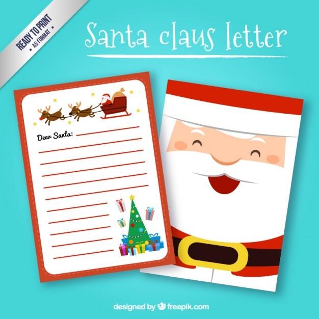 Lettera A Babbo Natale Divertente.Babbo Natale In Stile Lettera Divertente Scaricare Vettori