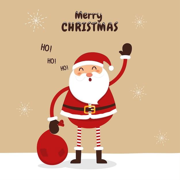 Immagini Babbo Natale Con Sacco.Babbo Natale Sta Salutando Con Un Sacco Di Regali