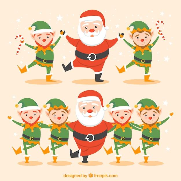 Immagini Di Folletti Di Babbo Natale.Babbo Natale Un Folletti Danza De Scaricare Vettori Gratis