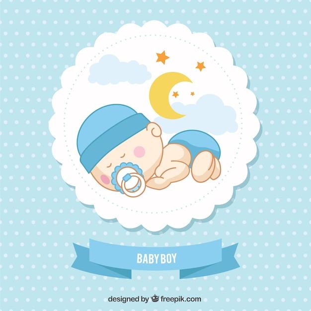 Baby boy card Vettore gratuito