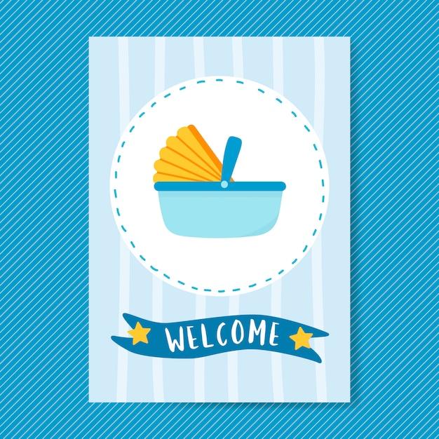 Baby card design biglietto d'invito Vettore gratuito